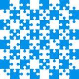 Μπλε κομμάτια γρίφων - διάνυσμα τορνευτικών πριονιών - σκάκι τομέων Στοκ Εικόνα