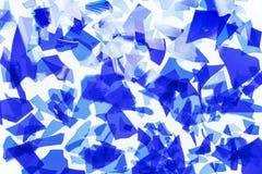 Μπλε κομφετί γυαλιού Τεμάχια του πολύ λεπτού χρωματισμένου γυαλιού για το λιώσιμο εικόνα υποβάθρου, σύσταση διανυσματική απεικόνιση