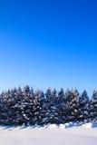 μπλε κομψός χειμώνας ουρανού τοπίων Στοκ φωτογραφία με δικαίωμα ελεύθερης χρήσης
