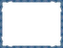 μπλε κομψό πλαίσιο μοντέρν&o διανυσματική απεικόνιση