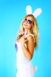 μπλε κορίτσι ανασκόπησης Στοκ φωτογραφία με δικαίωμα ελεύθερης χρήσης