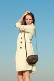 μπλε κορίτσι μόδας πέρα από &tau Στοκ φωτογραφία με δικαίωμα ελεύθερης χρήσης
