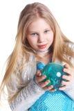 μπλε κορίτσι σφαιρών Στοκ Φωτογραφίες