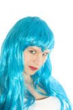 Μπλε κορίτσι Στοκ Εικόνες