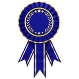 μπλε κορδέλλα βραβείων Στοκ Εικόνα
