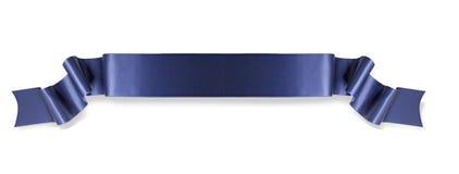 μπλε κορδέλλα εμβλημάτων Στοκ Εικόνα