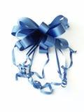 μπλε κορδέλλα τόξων στοκ εικόνα