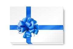 μπλε κορδέλλα τόξων ελεύθερη απεικόνιση δικαιώματος