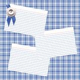 μπλε κορδέλλα συνταγής Στοκ εικόνα με δικαίωμα ελεύθερης χρήσης