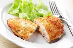 μπλε κορδόνι schnitzel Στοκ φωτογραφίες με δικαίωμα ελεύθερης χρήσης