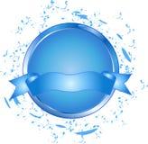 μπλε κουμπί εμβλημάτων Στοκ Φωτογραφίες