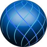 μπλε κουμπί Στοκ εικόνες με δικαίωμα ελεύθερης χρήσης
