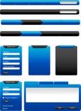 Μπλε κουμπιά Ιστού Στοκ εικόνες με δικαίωμα ελεύθερης χρήσης