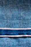 μπλε κουμπιών κινηματογραφήσεων σε πρώτο πλάνο σύσταση τσεπών Jean παλαιά Στοκ Φωτογραφία