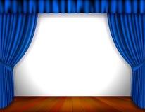 Μπλε κουρτίνα ελεύθερη απεικόνιση δικαιώματος