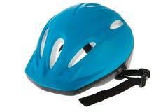 μπλε κράνος ποδηλάτων Στοκ Εικόνα