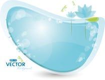 μπλε κρίνος ανασκόπησης απεικόνιση αποθεμάτων