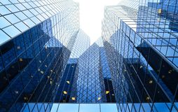 μπλε κτήριο εταιρικό Στοκ Εικόνες