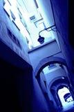 μπλε κτήριο Στοκ Φωτογραφίες