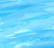 Μπλε κτυπήματα watercolor Στοκ εικόνες με δικαίωμα ελεύθερης χρήσης