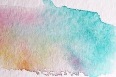 Μπλε κτύπημα με μια βούρτσα φιαγμένη από watercolors στενό έγγραφο ανασκόπησης που αυξάνεται Στοκ εικόνες με δικαίωμα ελεύθερης χρήσης
