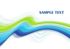 μπλε κυρτή Πράσινη Γραμμή απεικόνιση αποθεμάτων