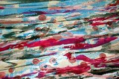 Μπλε κόκκινα ρόδινα, ζωηρά κέρινα χρώματα sivery, δημιουργικό υπόβαθρο αντιθέσεων Στοκ Εικόνα