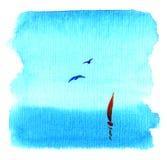 μπλε κόκκινη θάλασσα πανι απεικόνιση αποθεμάτων