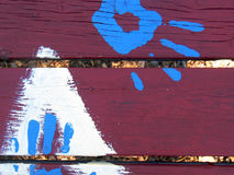 μπλε κόκκινος πίνακας χε& στοκ εικόνα