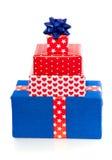 μπλε κόκκινο δώρων Στοκ Εικόνα