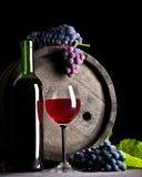 μπλε κόκκινο κρασί σταφυ& Στοκ εικόνα με δικαίωμα ελεύθερης χρήσης