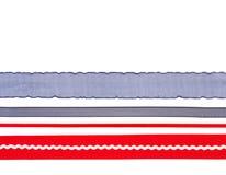 μπλε κόκκινο λευκό κορδελλών Στοκ εικόνες με δικαίωμα ελεύθερης χρήσης