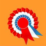μπλε κόκκινο λευκό ροζέτ& Στοκ φωτογραφία με δικαίωμα ελεύθερης χρήσης