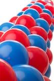 μπλε κόκκινο μπαλονιών Στοκ Εικόνα