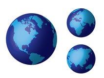 μπλε κόσμος σφαιρών Στοκ Εικόνες