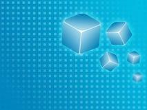 μπλε κύβος ανασκόπησης Στοκ Εικόνες