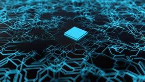 μπλε κύκλωμα χαρτονιών απεικόνιση αποθεμάτων