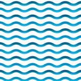 μπλε κύμα προτύπων Στοκ Εικόνα
