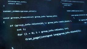 Μπλε κώδικα υπολογιστών απόθεμα βίντεο
