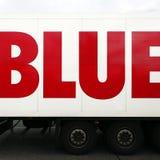 μπλε λέξη truck φορτηγών στοκ φωτογραφίες