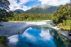 Μπλε λίμνες, Νέα Ζηλανδία Στοκ Φωτογραφία