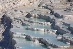 μπλε λίμνες pumakkale που λαμπυ&rho Στοκ Εικόνα