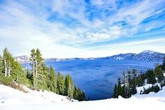 Μπλε λίμνη του Carter νερού Στοκ εικόνα με δικαίωμα ελεύθερης χρήσης