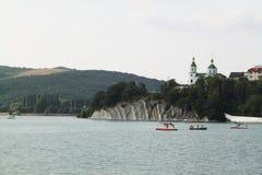 Μπλε λίμνη Abrau, abrau-Durso Στοκ Εικόνες