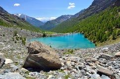 Μπλε λίμνη, Valle δ ` Aosta, Ιταλία Στοκ εικόνες με δικαίωμα ελεύθερης χρήσης