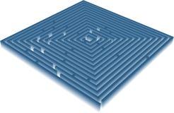 μπλε λαβύρινθος Διανυσματική απεικόνιση