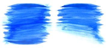 Μπλε λεκέδες watercolor Στοκ Εικόνες