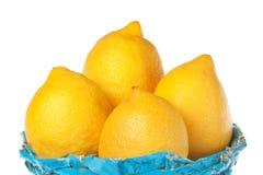 μπλε λεμόνια ομάδας καλαθιών Στοκ Φωτογραφία