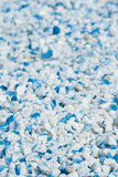 μπλε λευκό αμμοχάλικου Στοκ εικόνες με δικαίωμα ελεύθερης χρήσης