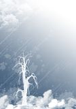 μπλε λευκό ανασκόπησης Στοκ φωτογραφίες με δικαίωμα ελεύθερης χρήσης
